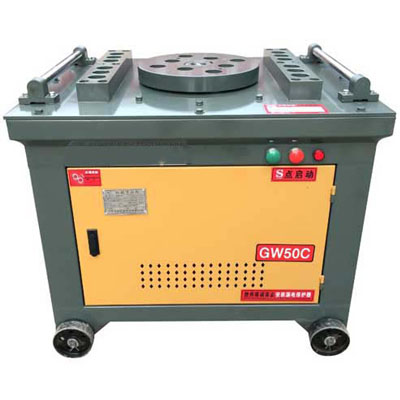 GW50 manual tmt bar bender machine